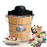 Elite Ice Cream Makers Gourmet 4 qt. Old-Fashioned Ice Cream Maker Wood Grain EIM-502