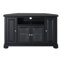 "Crosley Furniture Alexandria 48"" Corner TV Stand - Black"