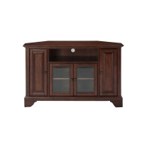 "Crosley Furniture Corner Tv Stand: Crosley LaFayette Corner TV Stand - Mahogany (48"")"