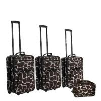 Rockland Fashion 4-pc. Expandable Luggage Set - Giraffe