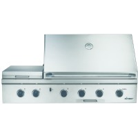 "Dacor Discovery 52"" Built-in Gas Grill with 2-20 000 BTU ""U"" Shaped Burners Sear Burner"