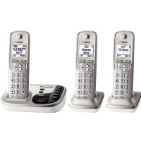 Panasonic Dect 6.0 Plus Cordless Phone System (KX-TGD223N) with Answering Machine - Silver