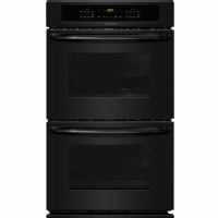 Frigidaire Self-Cleaning Double Electric Wall Oven (Black) (Common: 27