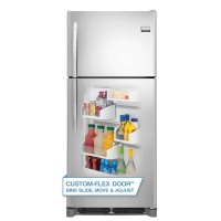 "Frigidaire FGHT2046QF 30"" Energy Star Rated 20.4 Cu. Ft. Top Freezer Refrigerator with Custom-Flex"