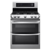 LG Ranges 6.9 cu. ft. Gas Double Oven Range with ProBake Convection in Stainless Steel LDG4313ST