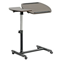 Wholesale Interiors Baxton Studio Olsen Wheeled Laptop Tray Table AA-10T-1(wenge)-desk