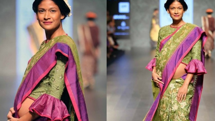Indian supermodel breaks stereotypes by walking on the runway with a baby bump