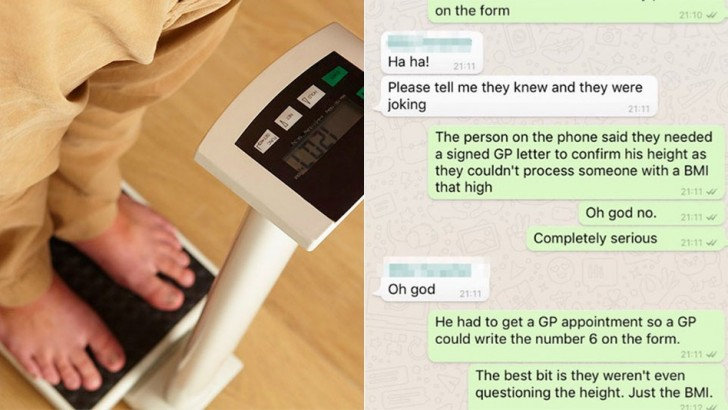 Man receives ridiculous BMI request from employer, has to prove his height isn't 17 cm