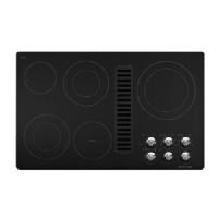 "KitchenAid 36 "" Black Electric Cooktop - KECD867XBL"