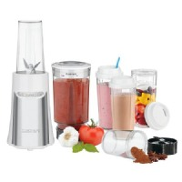 Cuisinart SmartPower 15-Pc Compact Portable Blender/Chopping System in White CPB-300W