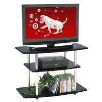 Convenience Concepts 3-Shelf TV Stand: Tv Stand: Convenience Concepts 3 Tier TV Stand - Black