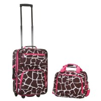 Rockland Rio 2-pc. Carry-On Luggage Set - Pink Giraffe