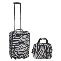 Rockland Rio 2-pc. Carry-On Luggage Set - Zebra