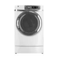 GE White RightHeight Gas Steam Dryer - GFDR480GFWW