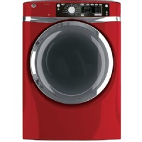 GE Ruby Red Gas Steam Dryer - GFDR485GFRR