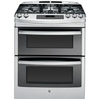 """GE 30 """" Stainless Double Oven Gas Range - PGS950SEFSS"""