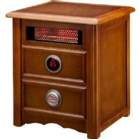 Dr Infrared Heater Heaters Nightstand 1500-Watt Infrared Portable Space Heater with Dual Heating System Browns / Tans DR999
