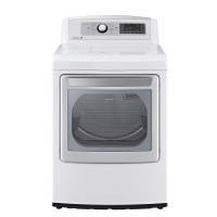LG White Ultra Large Gas Steam Dryer - DLGX5681W