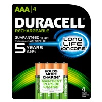 Duracell Rechargeable AAA 4pk