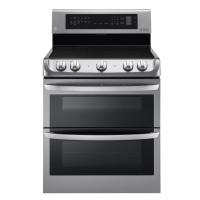 LG Ranges 7.3 cu. ft. Electric Double Oven Range with ProBake Convection in Stainless Steel LDE4413ST