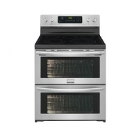 Frigidaire Ovens Gallery 7.0 cu. ft. Double Oven Electric Range Symmetry and True Convection in SmudgeProof Stainless Steel FGEF306TPF