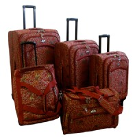 American Flyer Budapest 5pc. Luggage Set Red Red