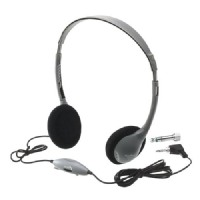 Hamilton Electronics SchoolMate Personal Automatic Stereo/Mono Switching Headphones w/ Volume Control and Acous