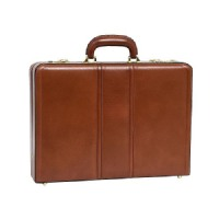 McKlein Leather Attache Case - Brown