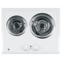 "GE 21 "" Built-In White Electric Cooktop - JP202DWW"