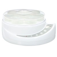 AROMA Yogurt Makers 8 cup (150 ML/cup) Yogurt Maker White AYM-606