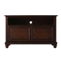 "Crosley Tv Stand: Crosley Cambridge TV Stand - Vintage Mahogany (Fits TV up to 42"")"