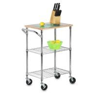 Honey-Can-Do Cart: 2 Shelf Rolling Kitchen Cart with Cutting Board Top