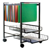 Advantus AVT34075 Mobile File Cart with Sliding Baskets