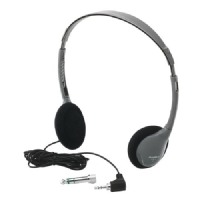 Hamilton Electronics SchoolMate Personal Automatic Stereo/Mono Switching Headphones w/ Acoustic Foam Earpads