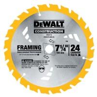 DeWalt Circular Saw Blades: DEWALT Saw Blades 7-1/4 in. Construction 24-Teeth Thin Kerf Framing Blade DW3178
