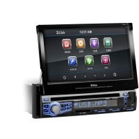 BOSS AUDIO BV9973 1-Din 7 Motorized Touchscreen Car Monitor DVD MP3 CD AM/FM