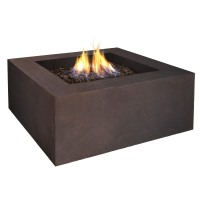 Real Flame Fire Tables: Real Flame Baltic Square Fire Table-Kodiak Brown