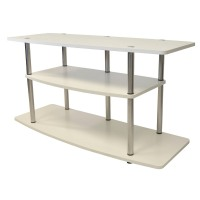 Convenience Concepts 3-Shelf TV Stand: Tv Stand: Convenience Concepts 3-Tier TV Stand - White
