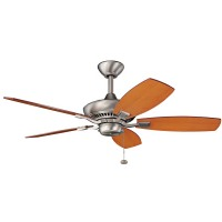 "Kichler 300107NI Canfield 44"" Brushed Nickel Ceiling Fan - blades Included"