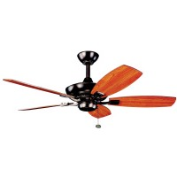 "Kichler 300107OBB Canfield 44"" Bronze Ceiling Fan - blades Included"