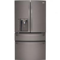LG Black Diamond 4-Door French Door Bottom Freezer Refrigerator - LMXS30776D