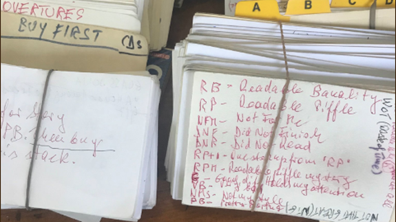 This woman's 96-year-old mother-in-law reviewed every book she read in secret code