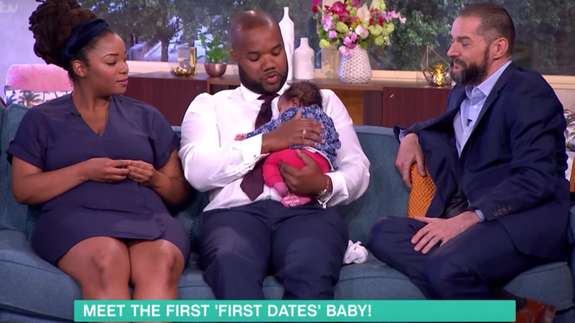 A couple who met on a reality dating show had a baby and love is real