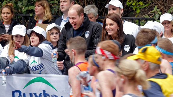 Prince William gets squirted by marathon runner, has the time of his life