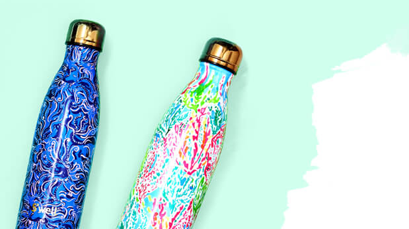 Buy a S'well x Lilly Pulitzer water bottle and get a second one for free