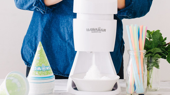 This snow cone maker by Hawaiian Shaved Ice is on sale for $35