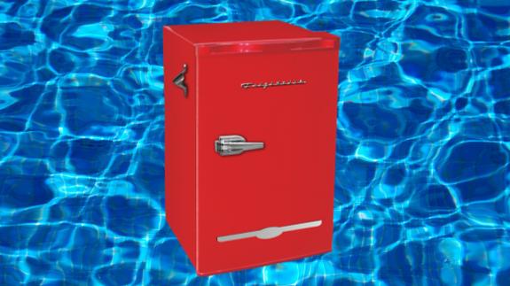 This Frigidaire retro mini fridge is on sale for $119 at Walmart
